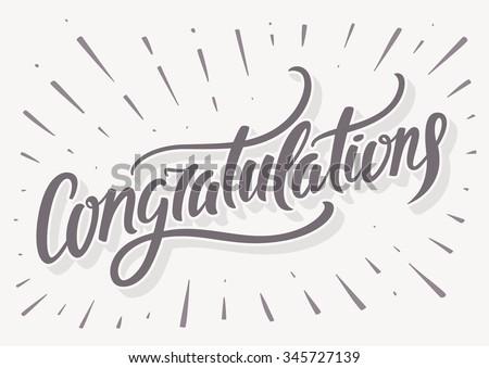 Congratulations card. - stock vector