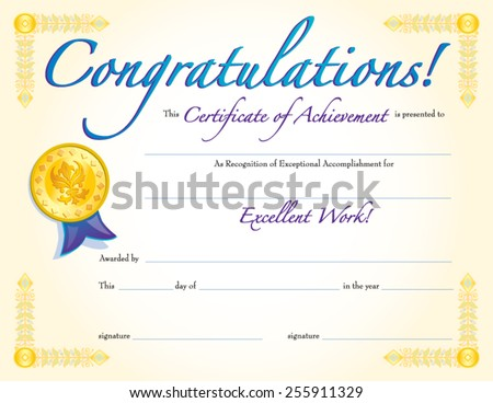 Congratulations Certificate Photos RoyaltyFree Images – Congratulations Certificate