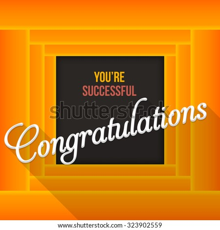 Congratulations Lettering, Movie Abstract Background Template - stock vector