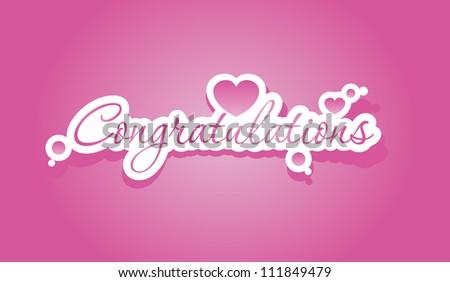 Congratulations lettering. Vector illustration. - stock vector