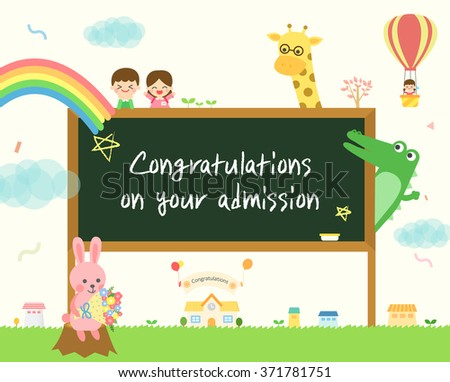 Congratulations on your admission