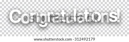 Congratulations paper sign over cells. Vector illustration.  - stock vector