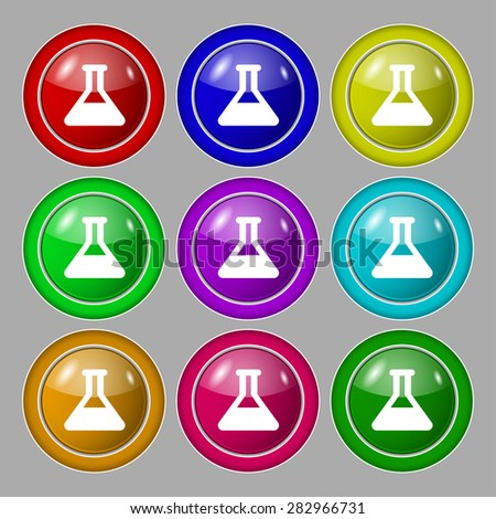 Conical Flask Conical Flask Icon Sign
