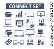connect identity set icons, vector - stock photo