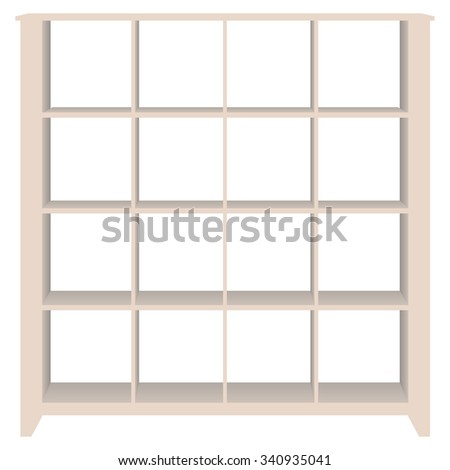 Connect Wall shelving for documents and office accessories. - stock vector