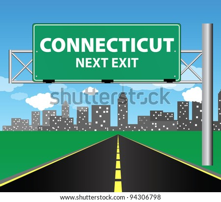 Connecticut - stock vector