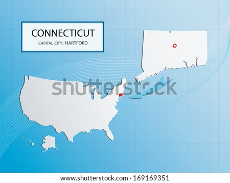 Hartford Stock Vectors Images Vector Art Shutterstock - Hartford usa map
