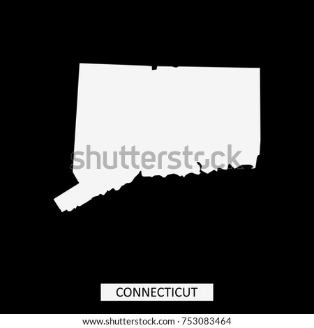 Connecticut State Usa Map Vector Outline Stock Vector 753083464