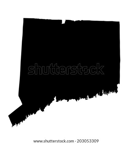 Map Us State Connecticut Stock Vector Shutterstock - Ct usa map