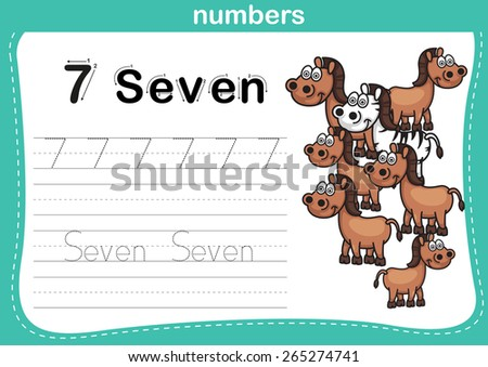 Printables Kindergarten Exercise connecting dot printable numbers exercise lovely stock vector and with cartoon for preschool kindergarten kids illustration