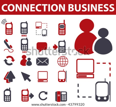 connection business signs. vector