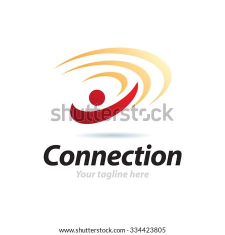 Connection Icon Vector Logo Template - stock vector