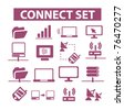 connection icons, signs, vector illustrations - stock vector