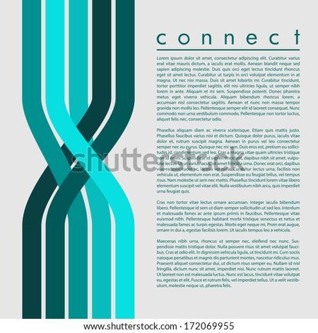 Connection Leaflet Design | EPS10 Vector - stock vector