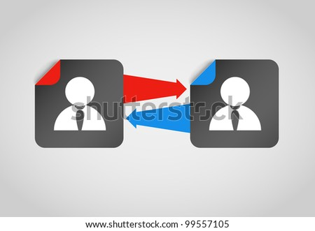 Connection people abstract concept - stock vector
