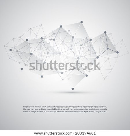 Connections - Molecular, Global, Business Network Design - Abstract Mesh Background - stock vector