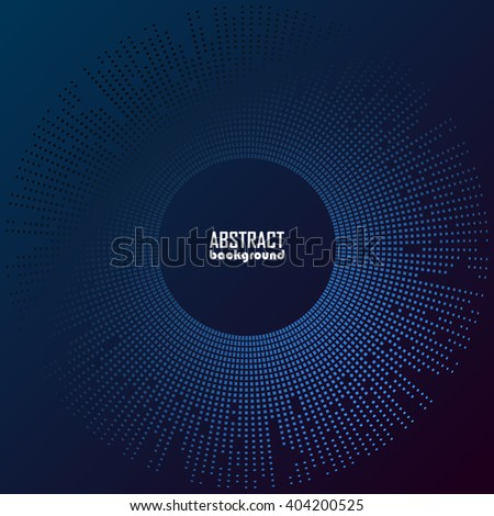 Consisting of little graphics abstract blue background vector illustration - stock vector