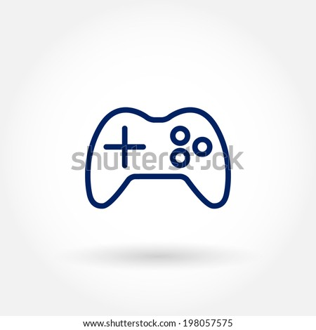 Console game pad icon. Modern line icon design. Modern icons for mobile or web interface. Vector illustration.  - stock vector
