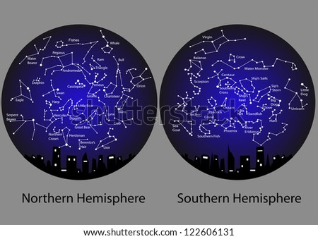 Constellation map stock photos illustrations and vector art
