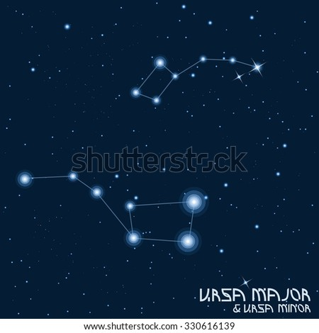 Constellations Ursa Major And Minor Constellation Cepheus ...