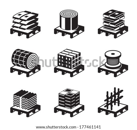 Construction and building materials - vector illustration - stock vector