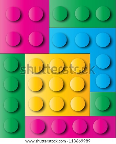 Construction blocks - stock vector