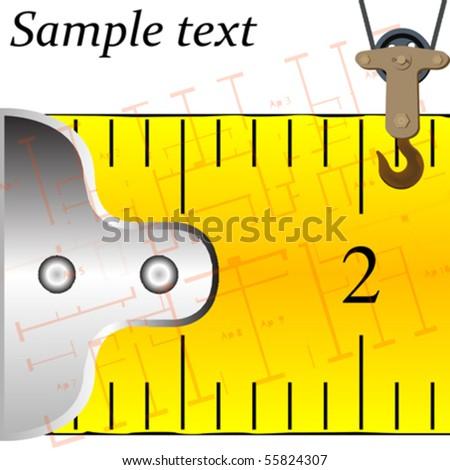 construction concept, abstract vector art illustration - stock vector