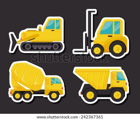 Construction design over black background, vector illustration. - stock vector