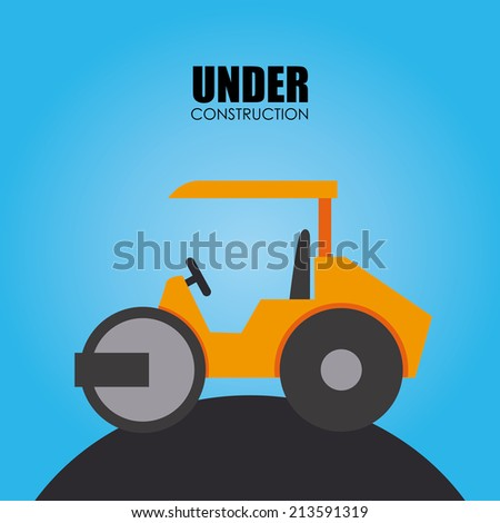Construction design over blue background vector illustration stock