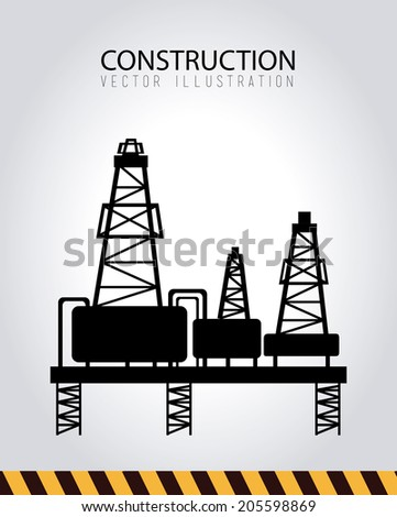 Construction design over gray background, vector illustration