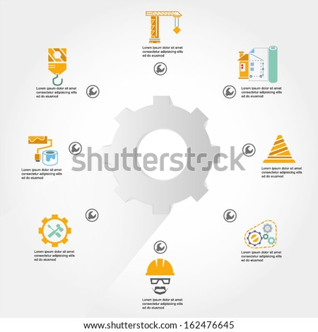 construction, engineering info graphic - stock vector