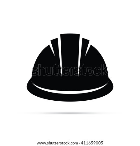 Construction Hard Hat Icon - stock vector