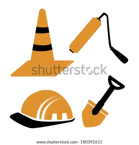 Construction icon over white background vector illustration  - stock vector