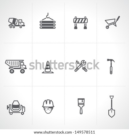 Construction icon set  - stock vector