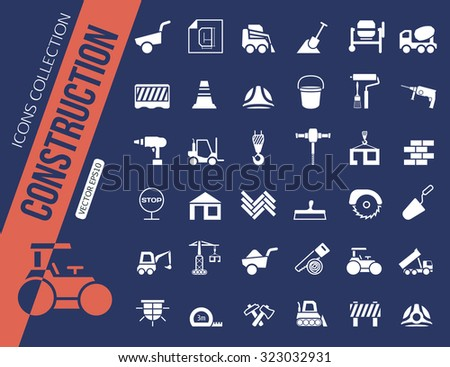 Construction icons collection. Vector illustration - stock vector