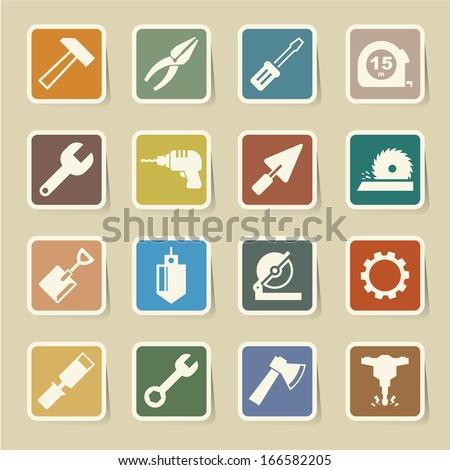 Construction Icons set.Illustration EPS10 - stock vector