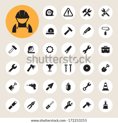 Construction Icons set.Illustration EPS10 - stock vector