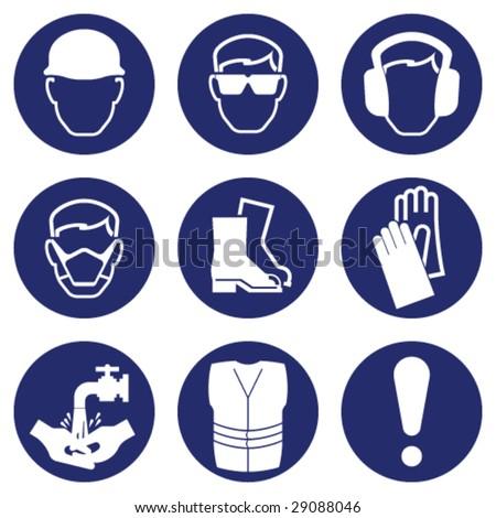 Construction Industry Health and Safety - stock vector