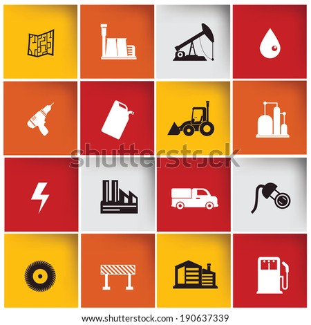 Construction & Industry icon set,vector - stock vector