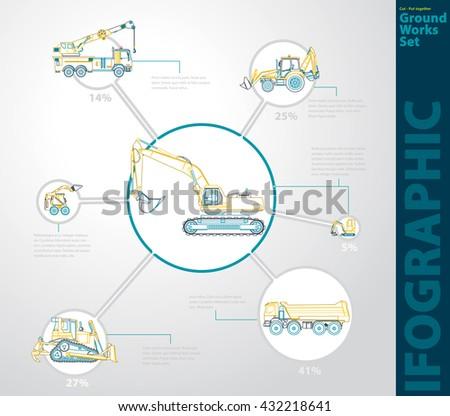 Car Insurance Infographics Sample Data Information Stock Vector ...