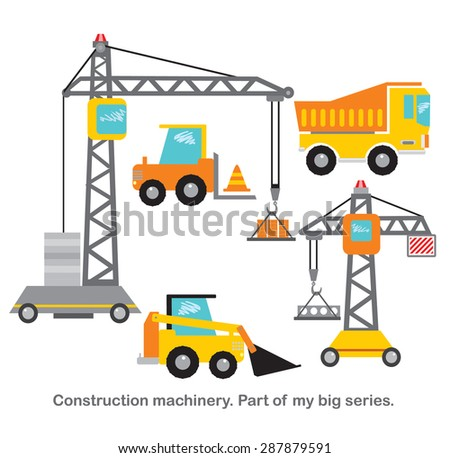 Construction machinery vector set. Part of my big series.