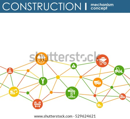 Logistic mechanism concept distribution delivery service for Contractors network