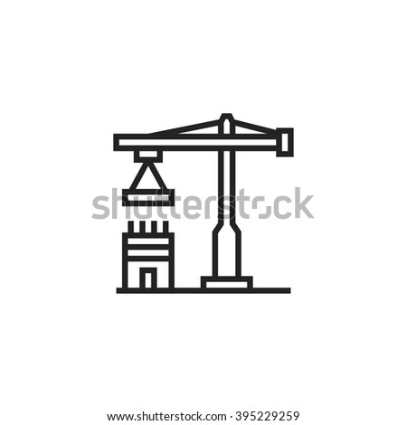 Construction Outline Icon - stock vector