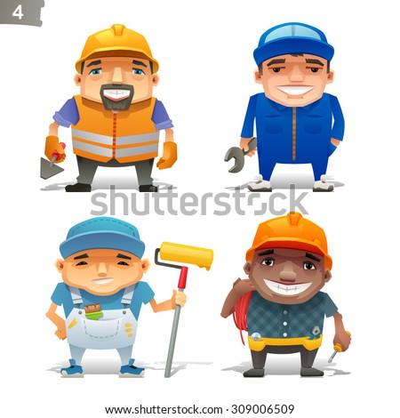 Construction professions set-2 - stock vector