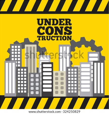 construction project design, vector illustration eps10 graphic