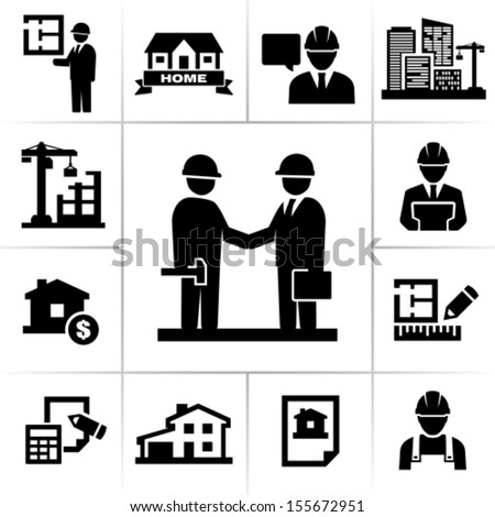 Construction project manager - stock vector
