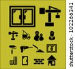 construction & repair icons set, vector - stock vector