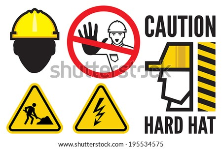Construction signs - stock vector