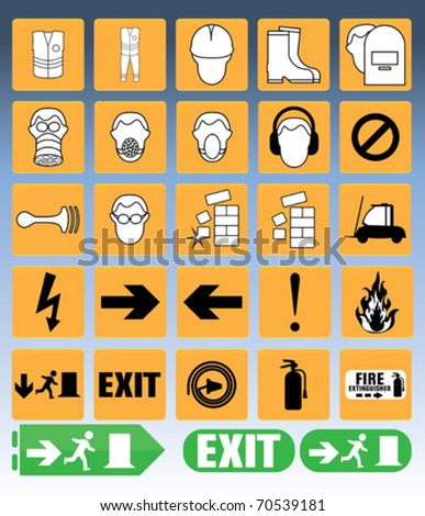 construction site safety icons