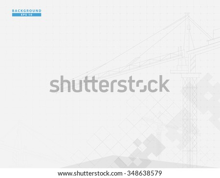 Construction site vector design - stock vector